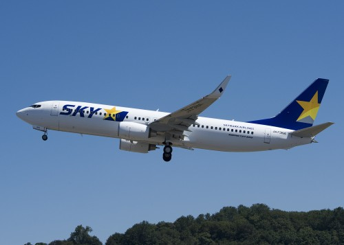 Skymark Airlines CGP YL636 3372 (SKM) 737-800 Take off