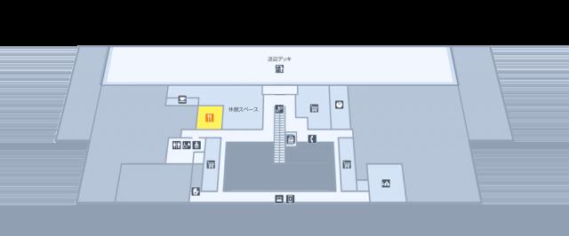 ターミナルビル2階