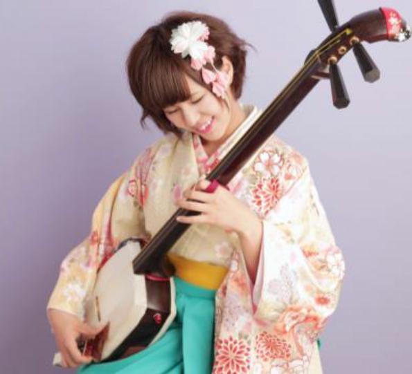 県内出身川嶋志乃舞による「津軽三味線の演奏」