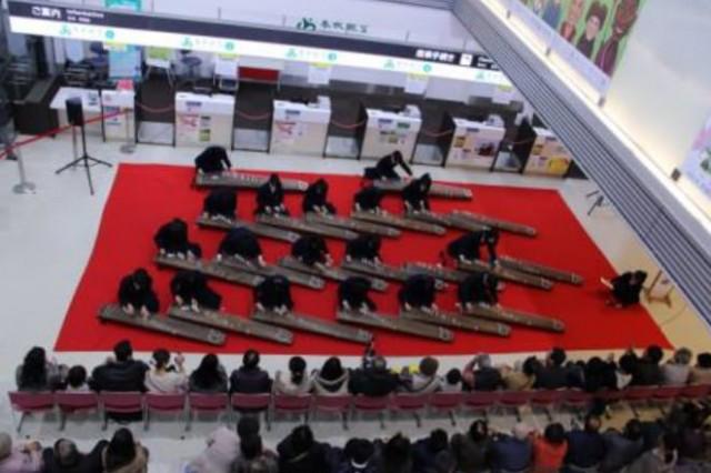土浦第二高等学校に筝曲部によるお琴コンサート