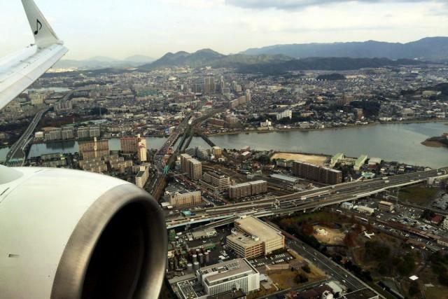 窓から見る福岡の風景