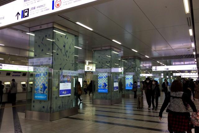 博多駅も広いですよ。