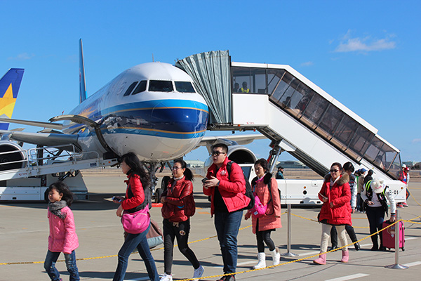 Ibaraki Airport Welcomed First Chartered Flight from Harbin、 China!
