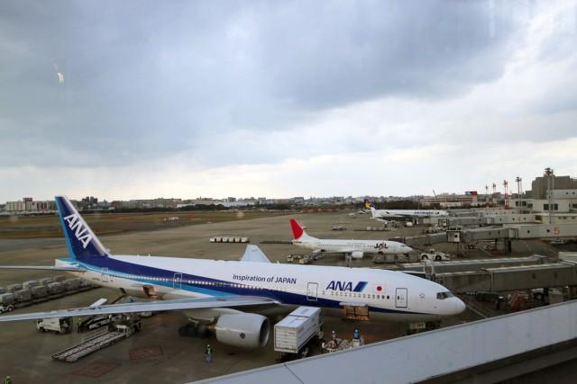 たくさんの飛行機が並んでいました。