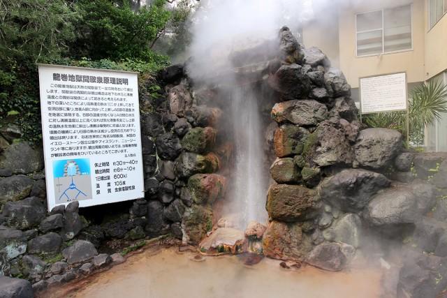 地下の水圧と沸騰温度の関係で起きる現象だそうです