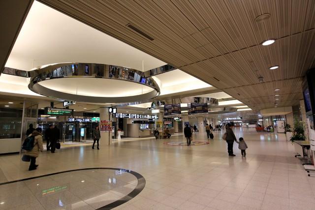 新千歳空港に到着