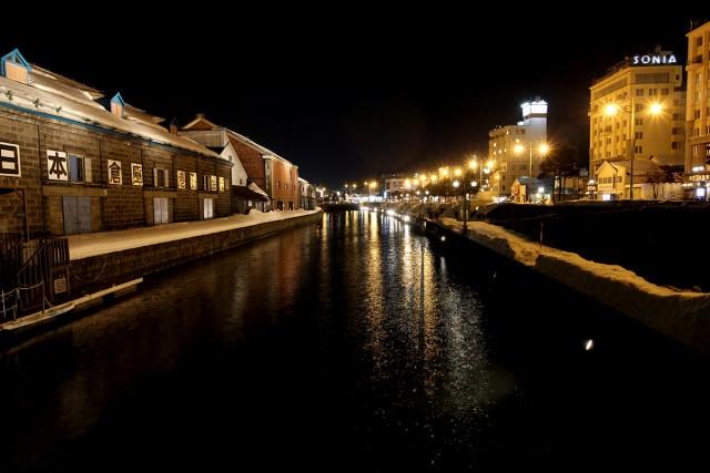 小樽運河を反対方向から