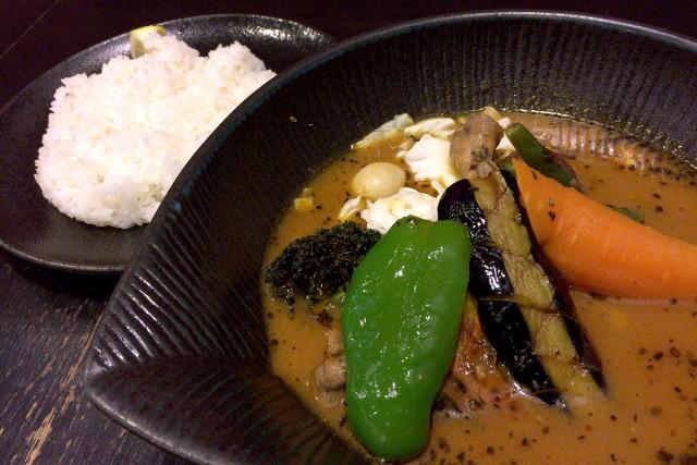 本場・札幌のスープカレー。