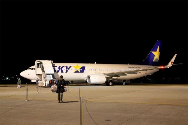 茨城空港に到着。もちろん飛行機からは歩きます