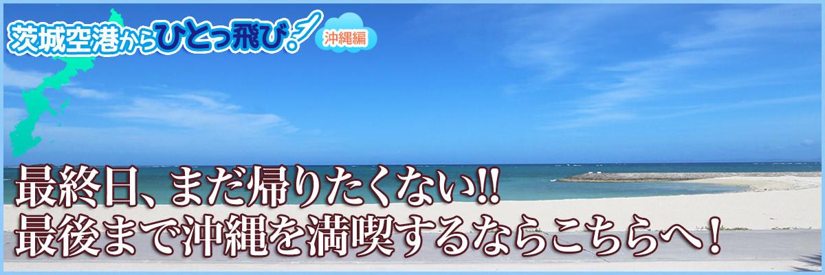最終日、まだ帰りたくない!!-最後まで沖縄を満喫するならこちらへ!