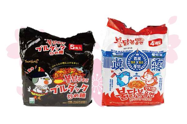 ブルダック 炒め麺・キムチブルダックポックンミョン