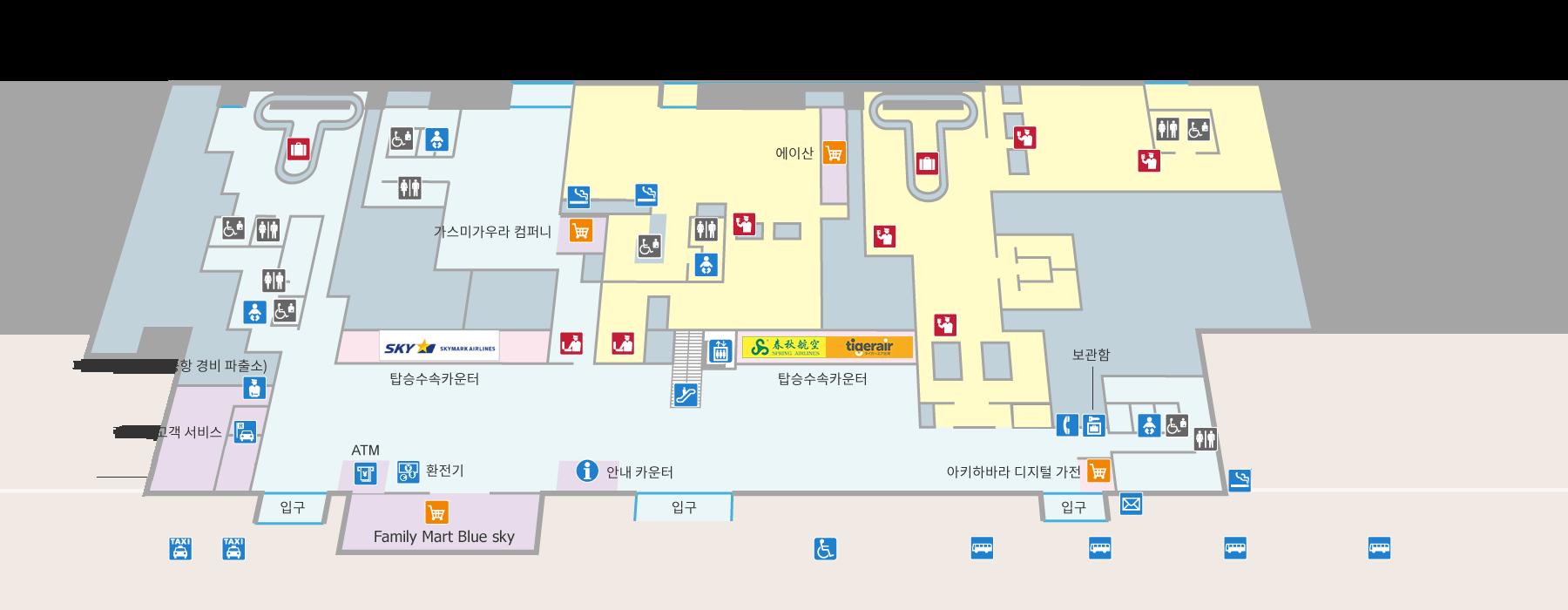ターミナルビル1F(韓国語)