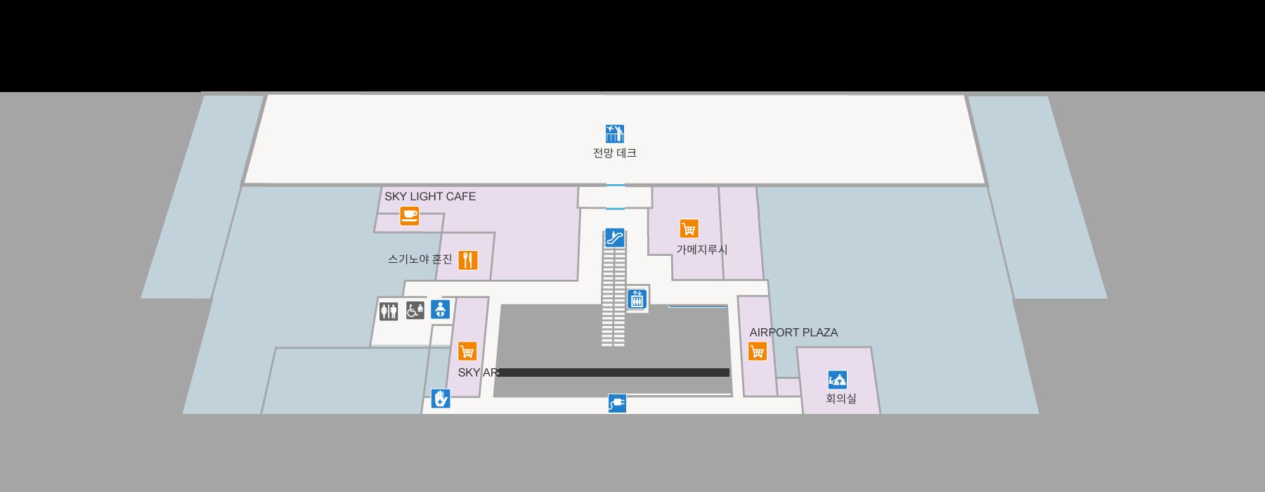ターミナルビル2F(韓国語)